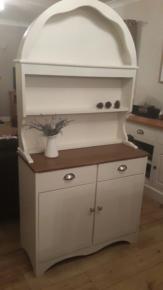 Gorgeous Welsh Dresser Sideboard Cabinet Hand Painted In Fu0026B Eggshell Cream  #Unbranded #AntiqueStyle