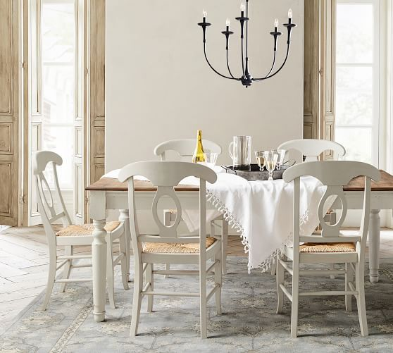 Jerome Chandelier Dining Room Inspiration White