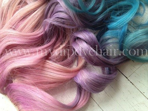 Ombredip dyeciara inspiredpinkpurplebluepastel hair dip dye pastel pink purple and blueombrehair extensions complete piecesclip pmusecretfo Gallery