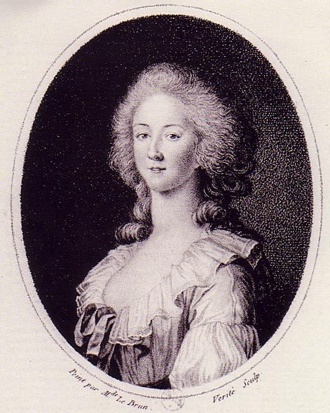 Engraving of a Vigée Le Brun Portrait The Princess de Lamballe was born in 1749. She was married to Louis Stanislas, the Prince de Lamballe (1747-68), the brother of Louise Marie Adélaïde de Penthièvre (the future Duchesse de Chartres). She was widowed at the age of 19. The Princess de Lamballe died on 3 Sept 1792 in Paris after she returned from England to help her queen. She was decapitated and her body was lacerated.