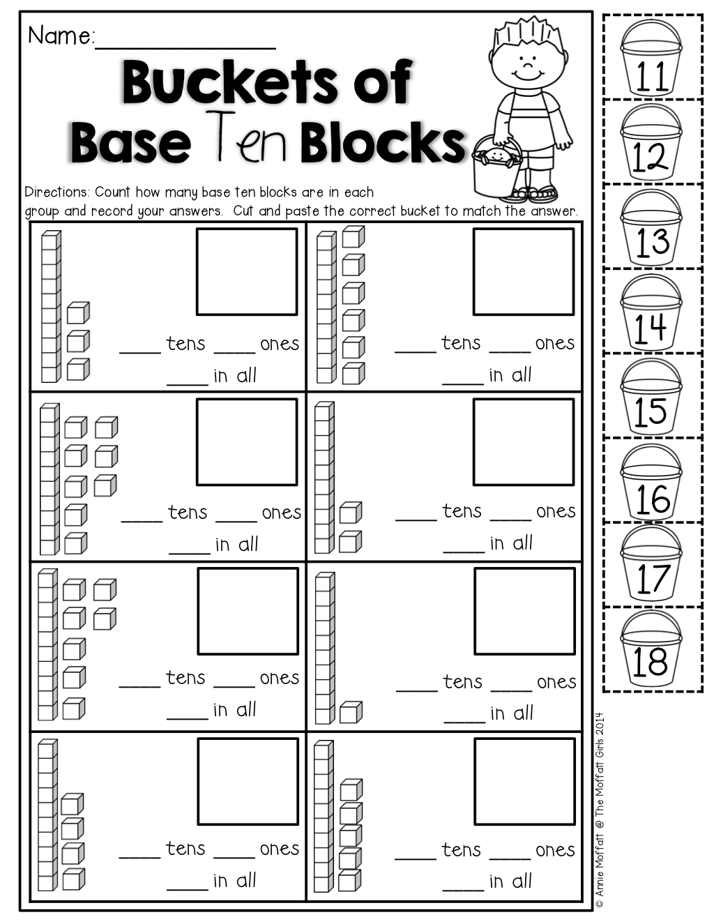 Hundred Base Blocks Worksheet