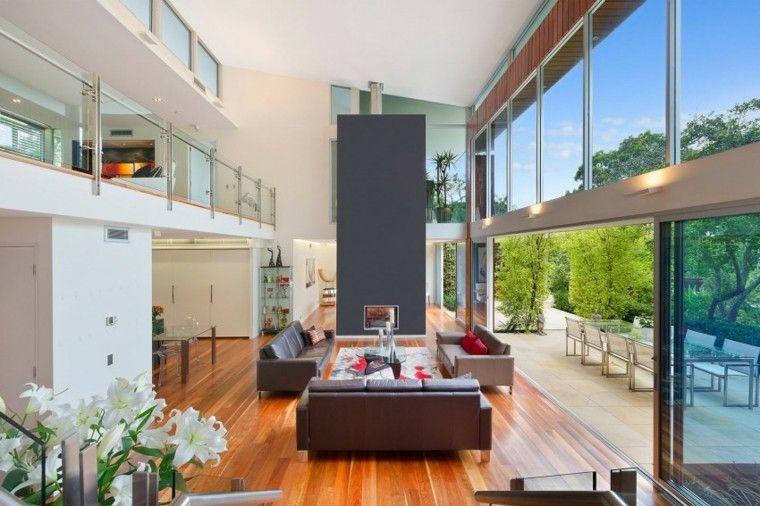 Tipos de chimeneas perfectas para un hogar acogedor Salón moderno