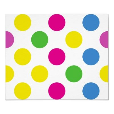 Art Polka Dots Circles Spots Blue Green Yellow Red Posters by sitnica