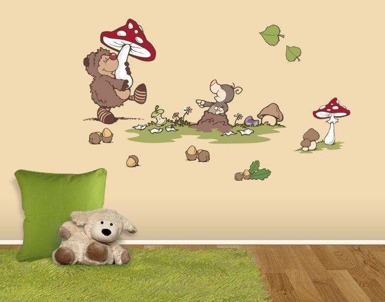 Wandtattoo forest friends hetch hogan kinderzimmer pinterest wandtattoo klebefieber und - Klebefieber kinderzimmer ...