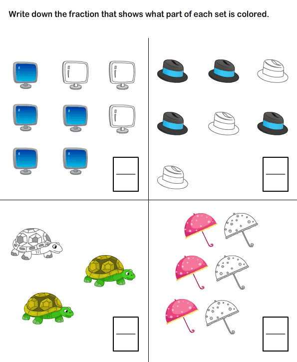 math worksheet : 1000 images about probability and fractions on pinterest  : Fractions For Kindergarten Worksheets