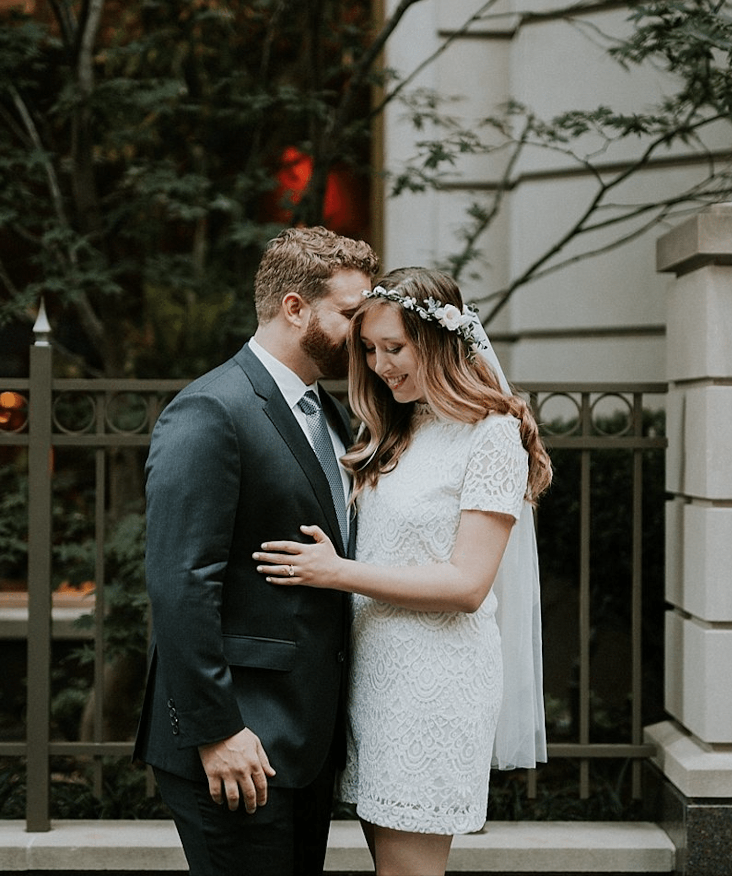 A Practical Wedding Real Weddings: We Ditched The Veil, Added A Party Bus, And Had The Best