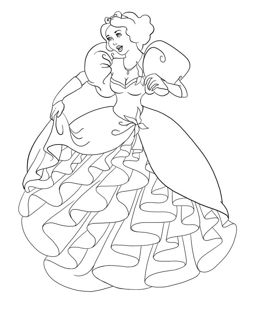 Snow white as giselle ii lines by paolatosca on deviantart