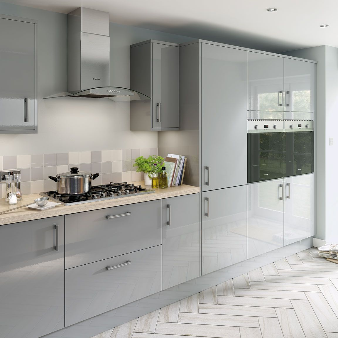 Cuisine Blanche Et Grise Moderne: Simply Hygena Chancery Grey Kitchen