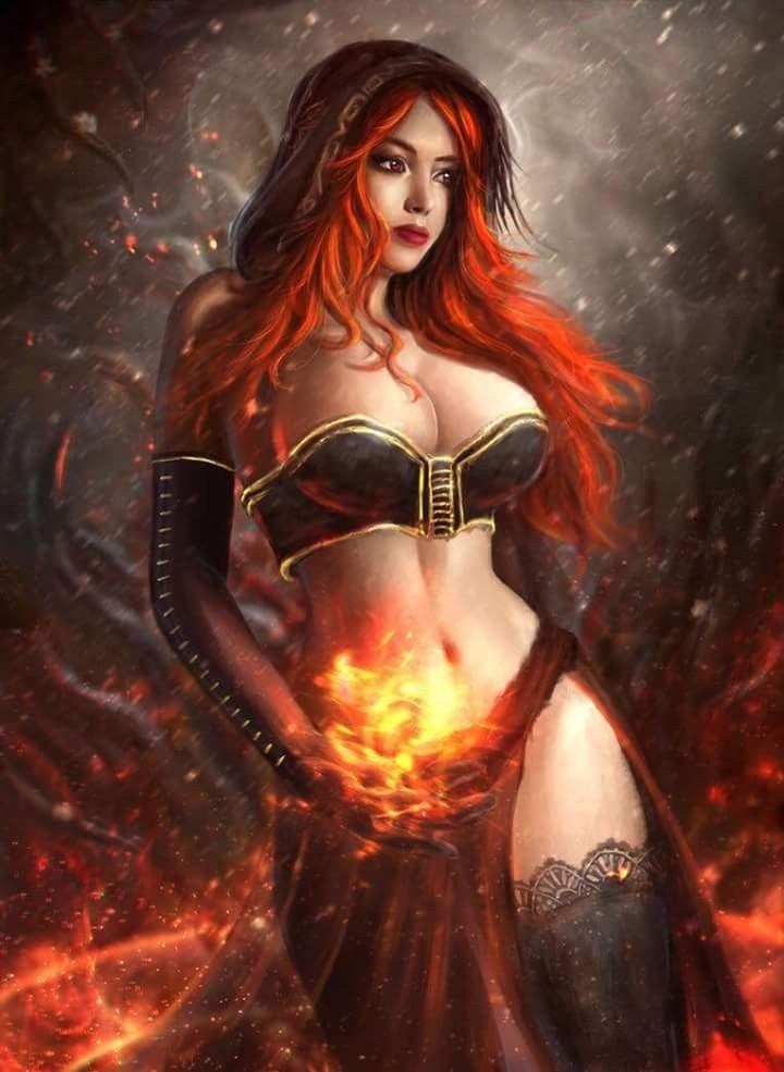 sexy fantasy frauen zeichnungen