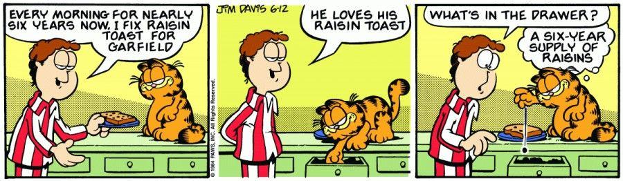 Garfield on 12th June 1984