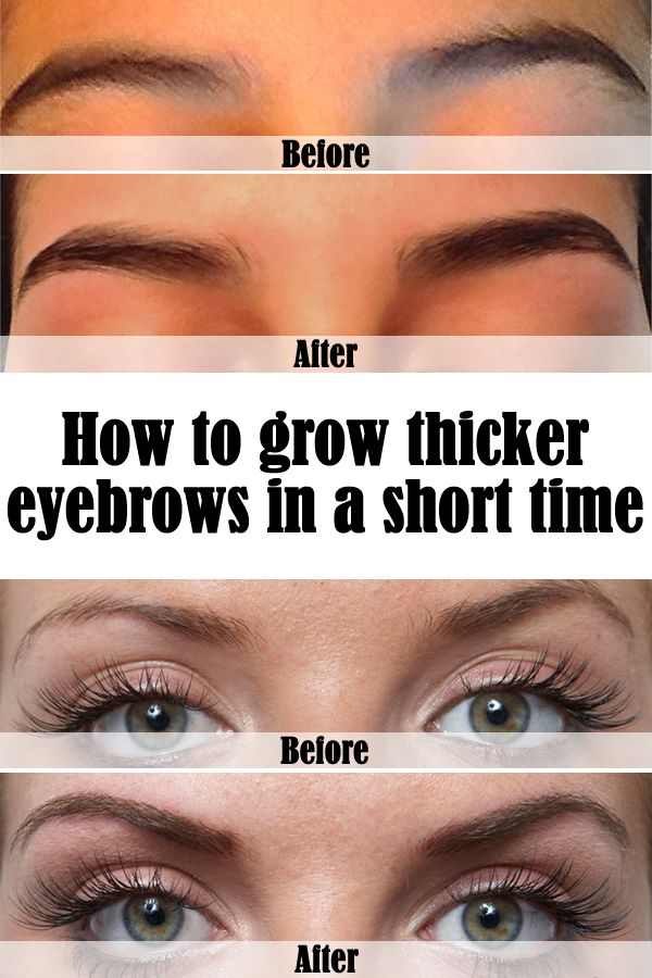 How To Grow Thicker Eyebrows In A Short Time Hair Eyebrows