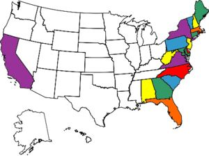 all the states i've been to/driven through!