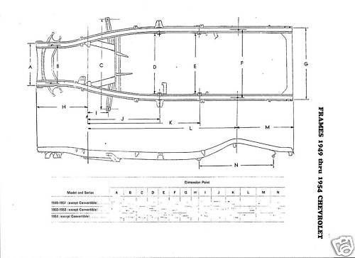 49 50 51 52 53 54 Chevrolet NOS Frame Dimension Align | Chevy Trucks ...