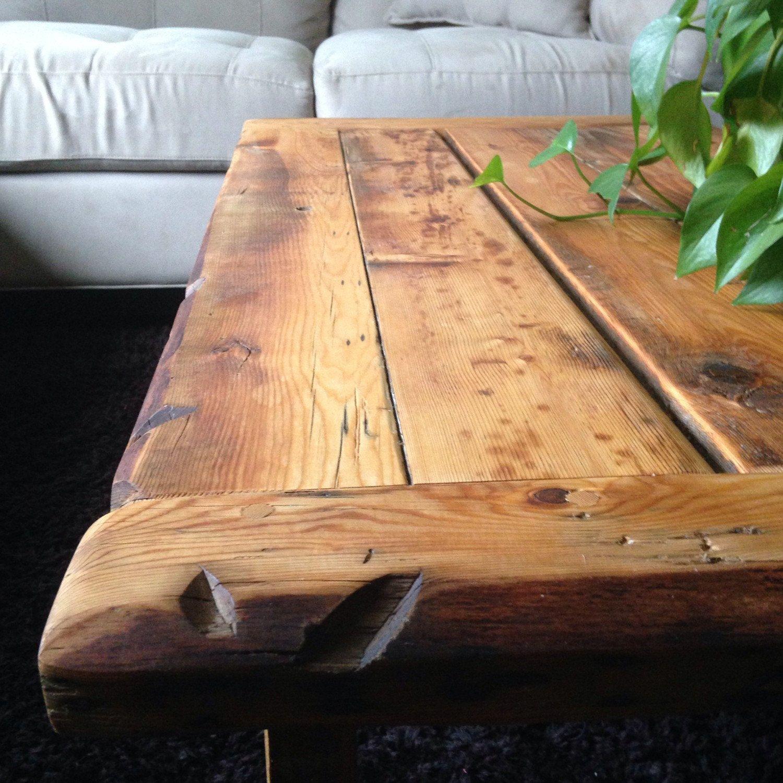 Marvelous Johnu0027s Coffee Table Solid Wooden Character Breadboard Table Reclaimed Wood  Livingroom Handmade Coffee Table Live Edge