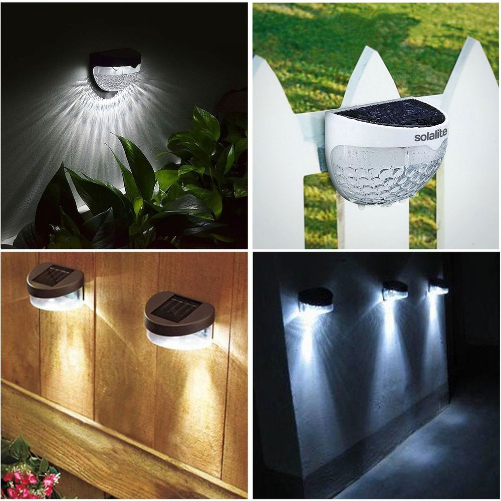 Details About Solar Powered Fence Lights Wall Door Step Smd Led Light Outdoor Garden Lighting