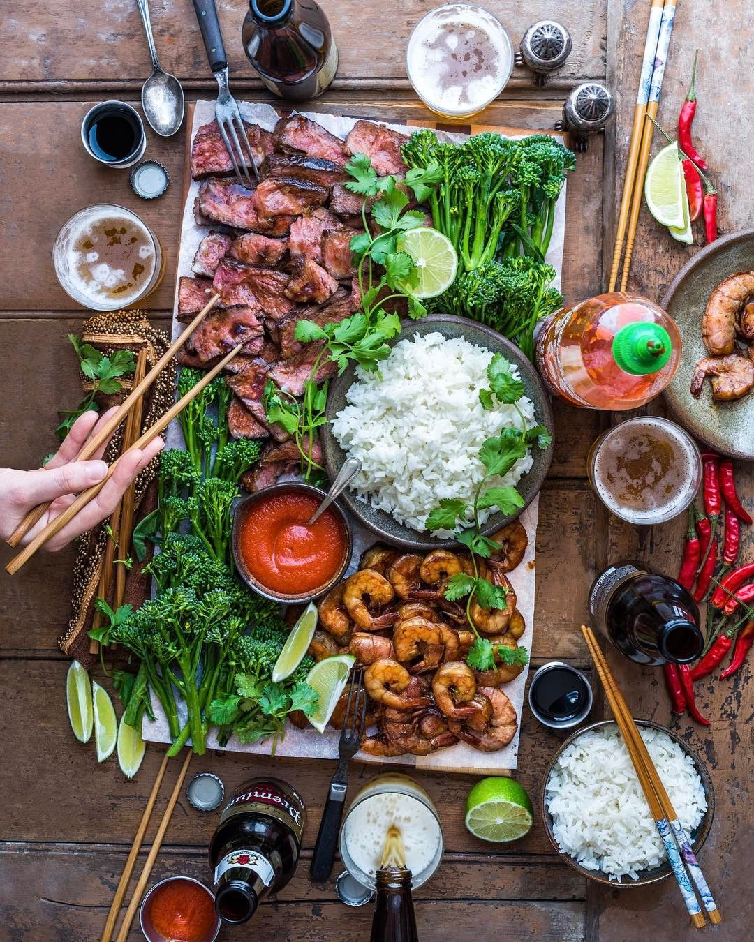 Summer Vibes Are Back In The Maritimes Rocking Gochujang Maple Surf Turf This Eve With The Crew Cooking From My Ne Food Presentation Food Platters Recipes