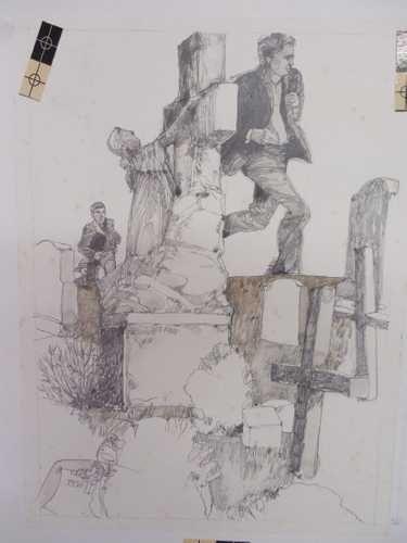 Jerry Pinkney Original Pencil Illustration Rabbit Run ...