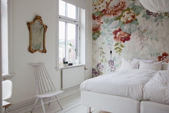 Papel de pared – tapiz de cabecero en el dormitorio