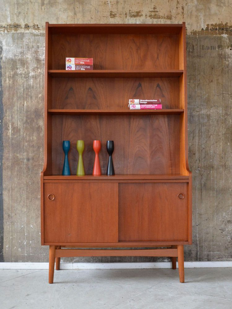 60er j sorth teak highboard kommode regal danish design 60s cabinet shelf interior design. Black Bedroom Furniture Sets. Home Design Ideas