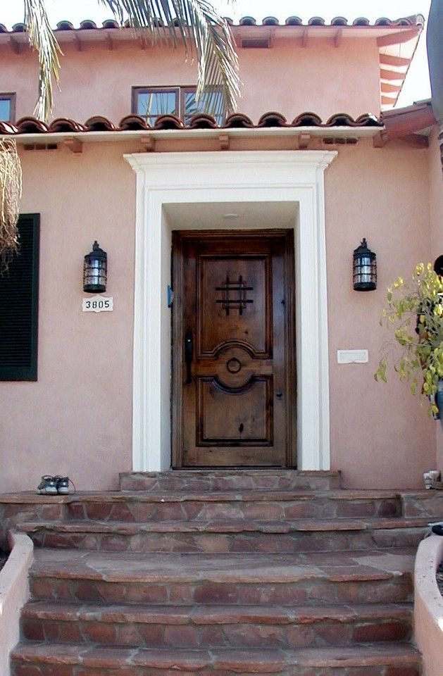 Spainsh Style Front Doors Door Exterior A Spanish Wood With Ironwork