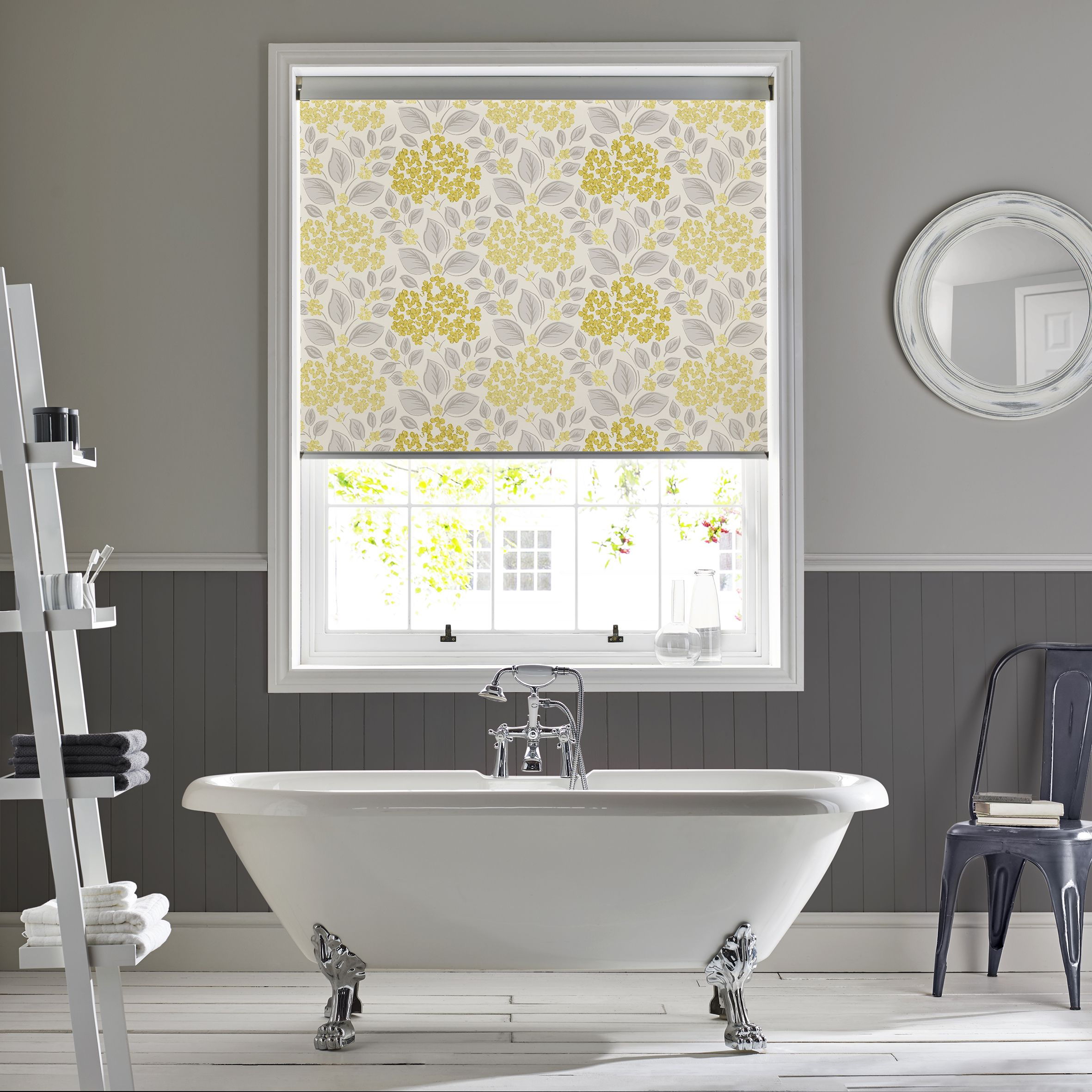 Products rollers in vogue blinds - Hydrangea Yellow Roller Blind By Style Studio