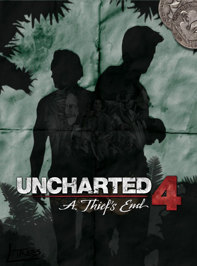 Uncharted 4 A Thief S End Retro Poster By Ltrees Deviantart Com