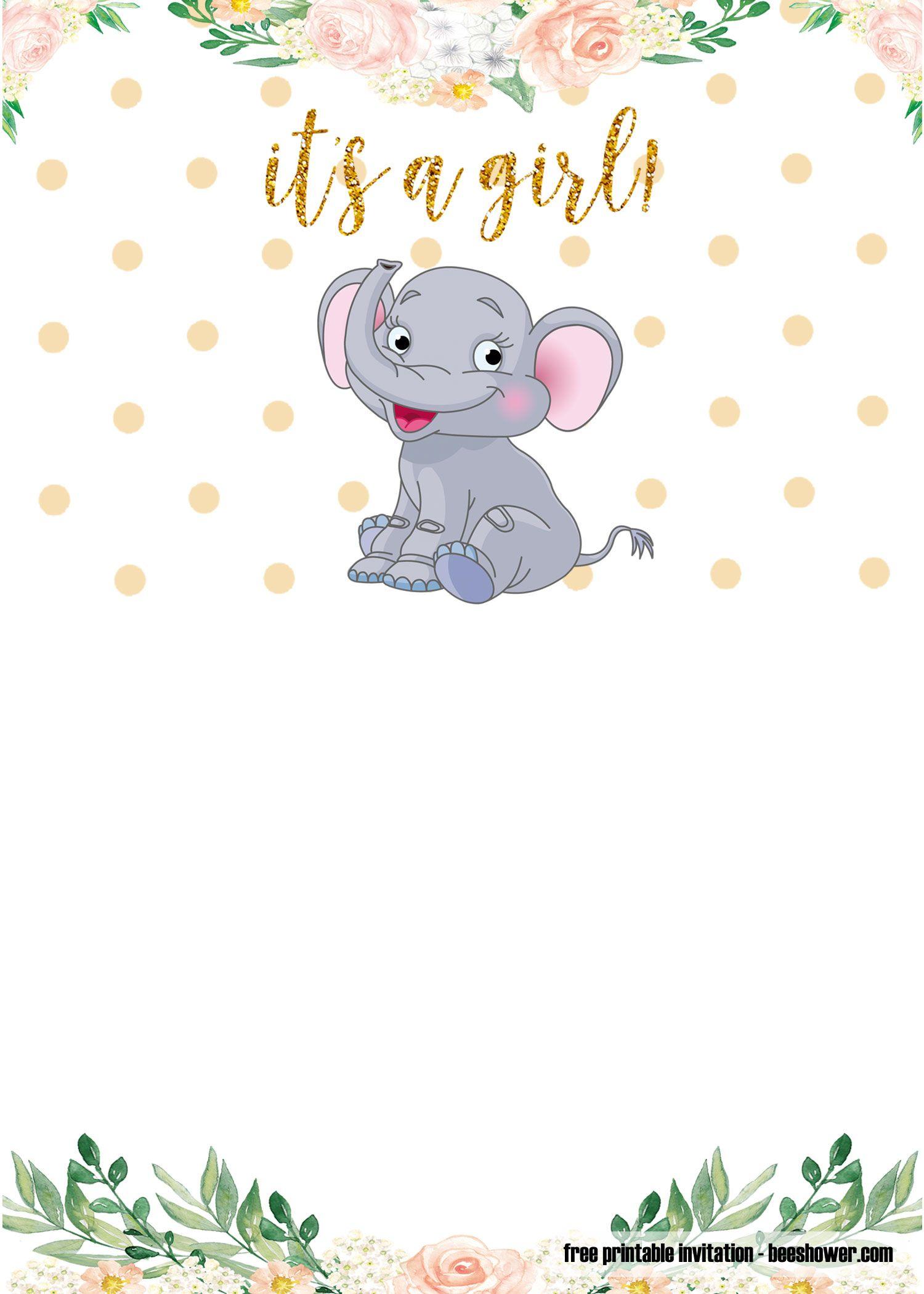 Free Printable Elephant Baby Shower Invitations Templates Baby Shower Invitations Templates Baby Shower Invitation Templates Baby Shower Invitations