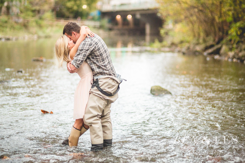 Meghan & Josh Engagement First Look: Creekside, Gahanna | Ben & Les ...