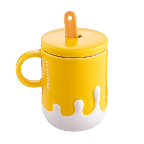台湾星巴克2020 柠檬黄雪糕造型马克杯 搅拌勺子冰激凌咖啡杯 淘宝网 Glassware Tableware Mugs