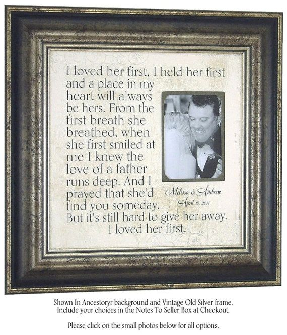 Father of the Bride Gift, Father Daughter Gift, I Loved ...