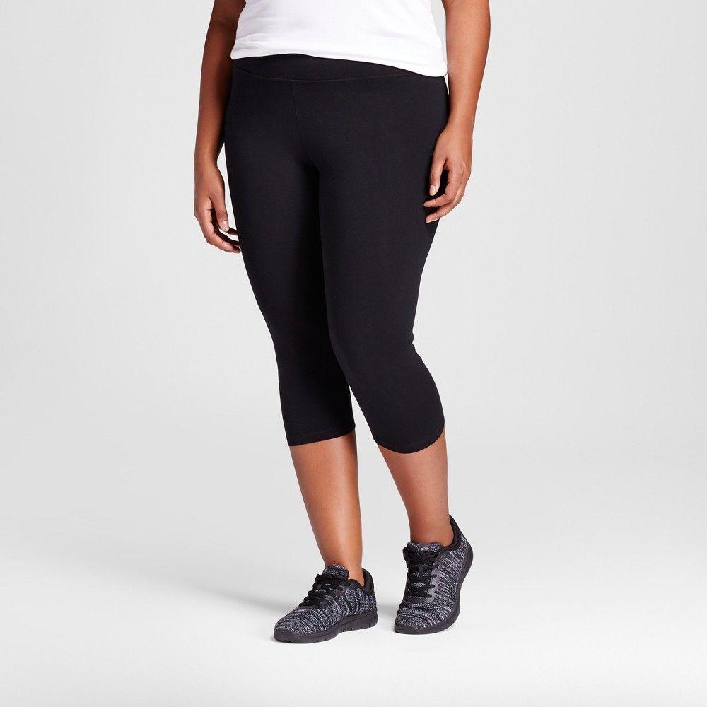 78522213955 Women s Plus Size Capri Legging Black 3X - Ava   Viv