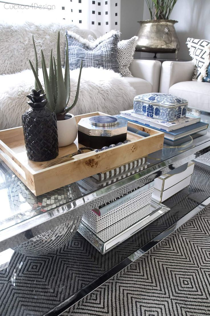 How To Style A Two Tier Coffee Table Cuckoo4design Coffee Table Coffee Table Decor Tray Display Coffee Table