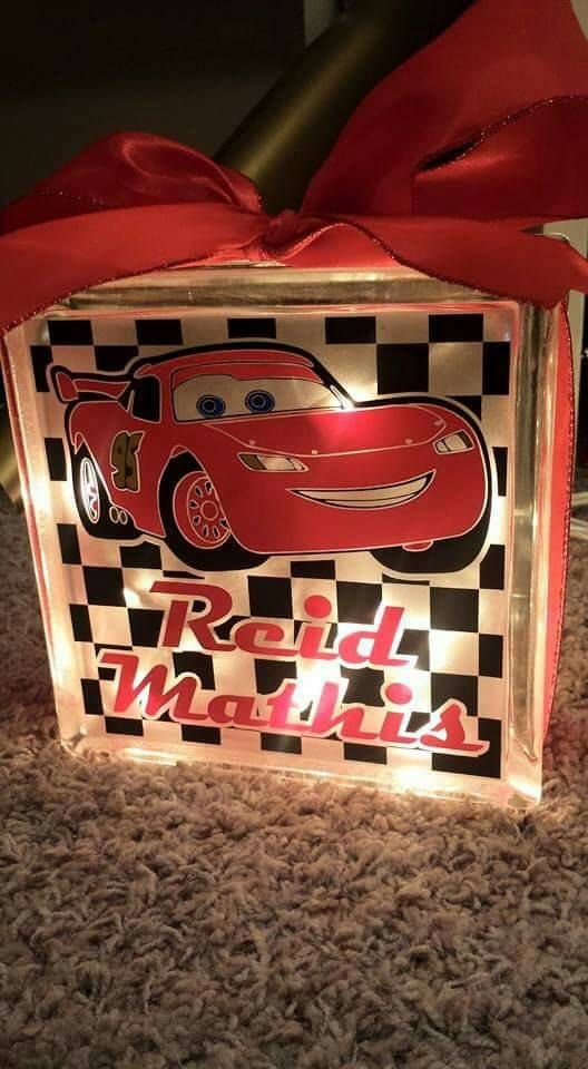 Check out this item in my Etsy shop https://www.etsy.com/listing/265687496/personalized-8x8-cars-lightning-mcqueen