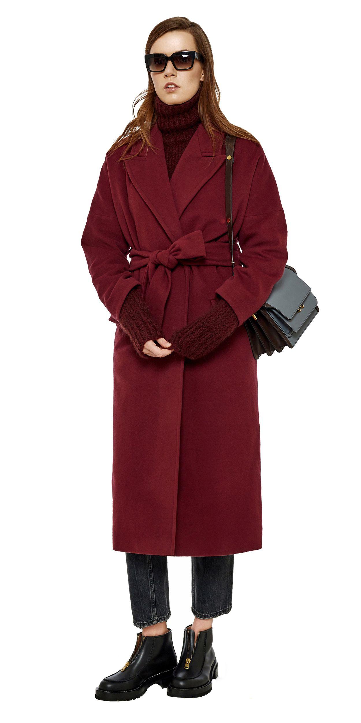 741920f8b130 Пальто-халат   Wish   Pinterest   Coat, Jackets и Burgundy color