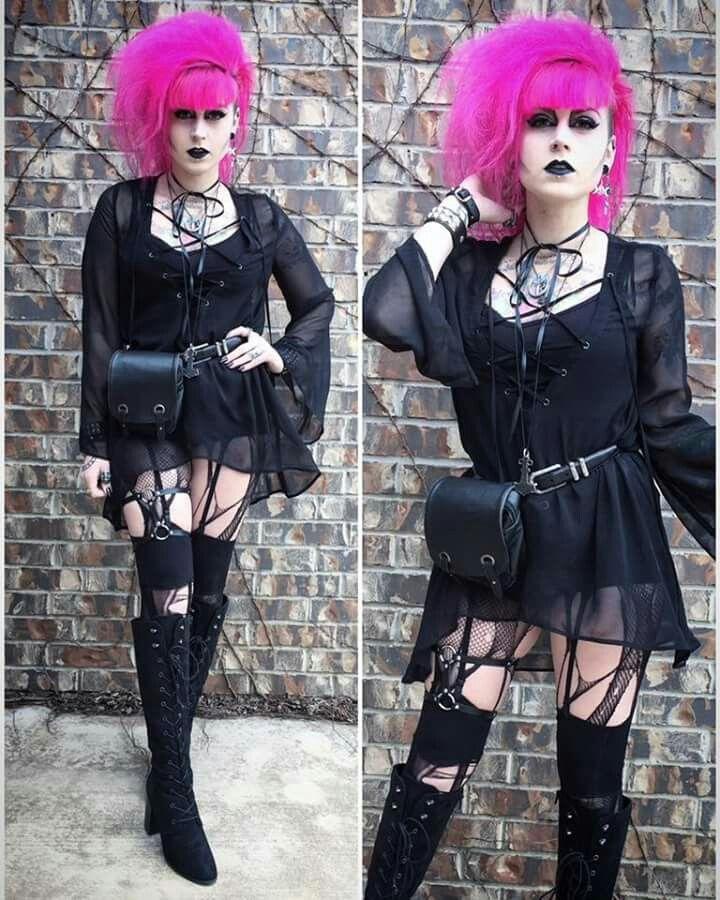 Allison Eckfeld's trad goth outfit
