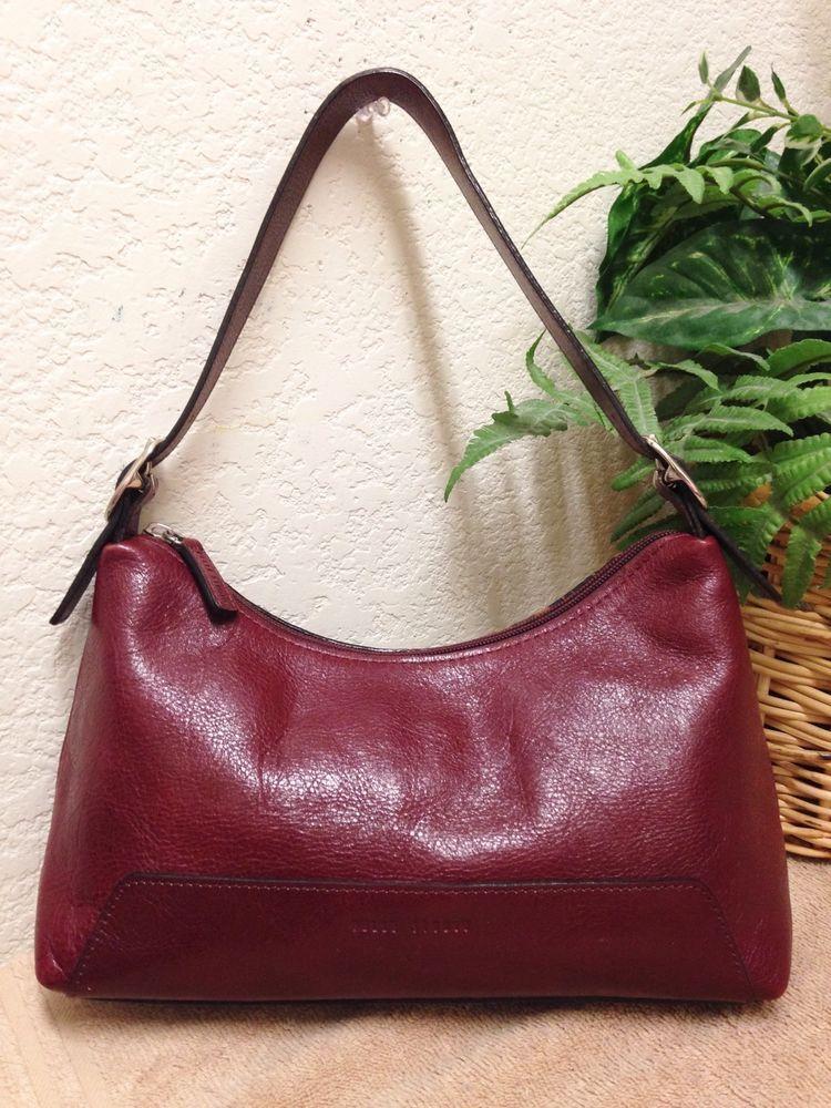 Wilsons Leather Pelle Studio Red Italian Leather Hobo