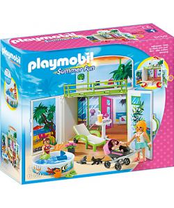 Clicks Playmobil 6159 Cofre Terraza Con Solarium Playmobil Bungalows De Playa Tienda De Juguetes