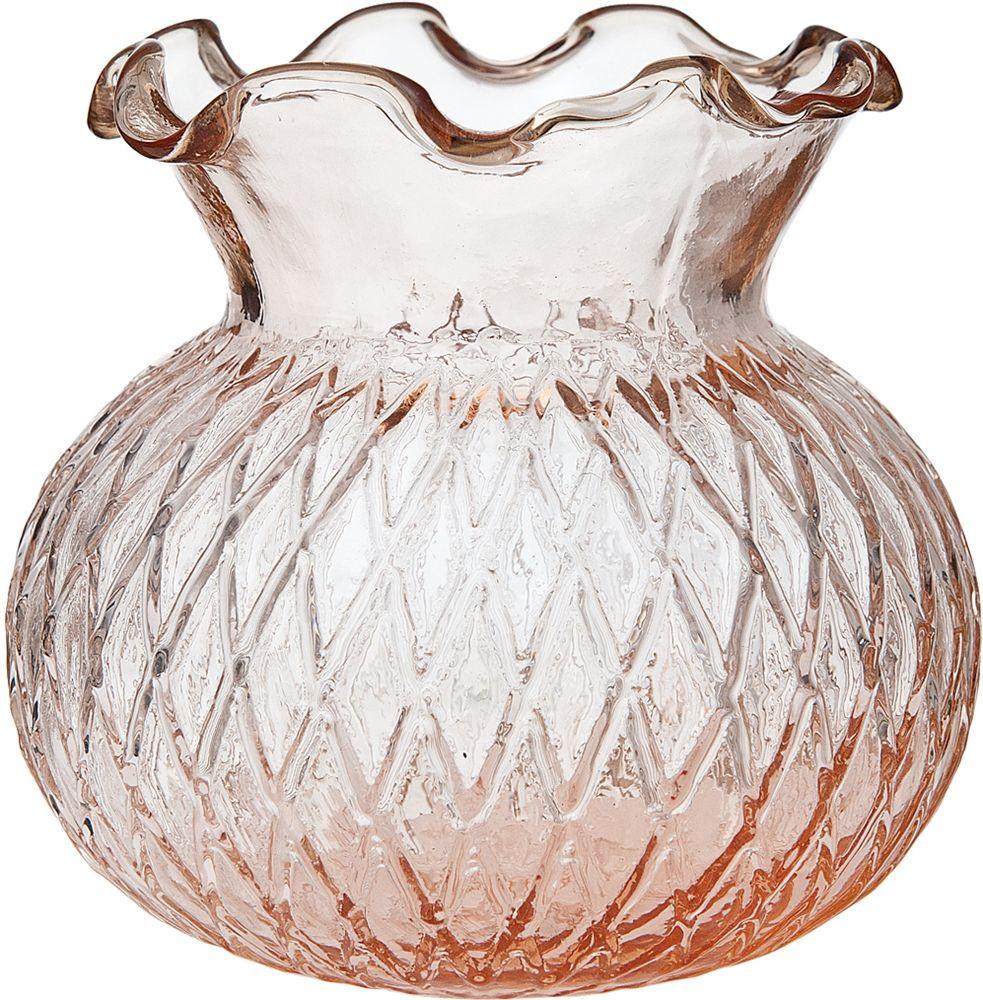 Vintage pink glass vase short ruffled design wholesale bulk vintage pink glass vase short ruffled design wholesale bulk reviewsmspy