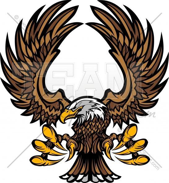 eagle clipart mascot graphic vector clipart logo art and crafts rh pinterest co uk  philadelphia eagles logo clip art free