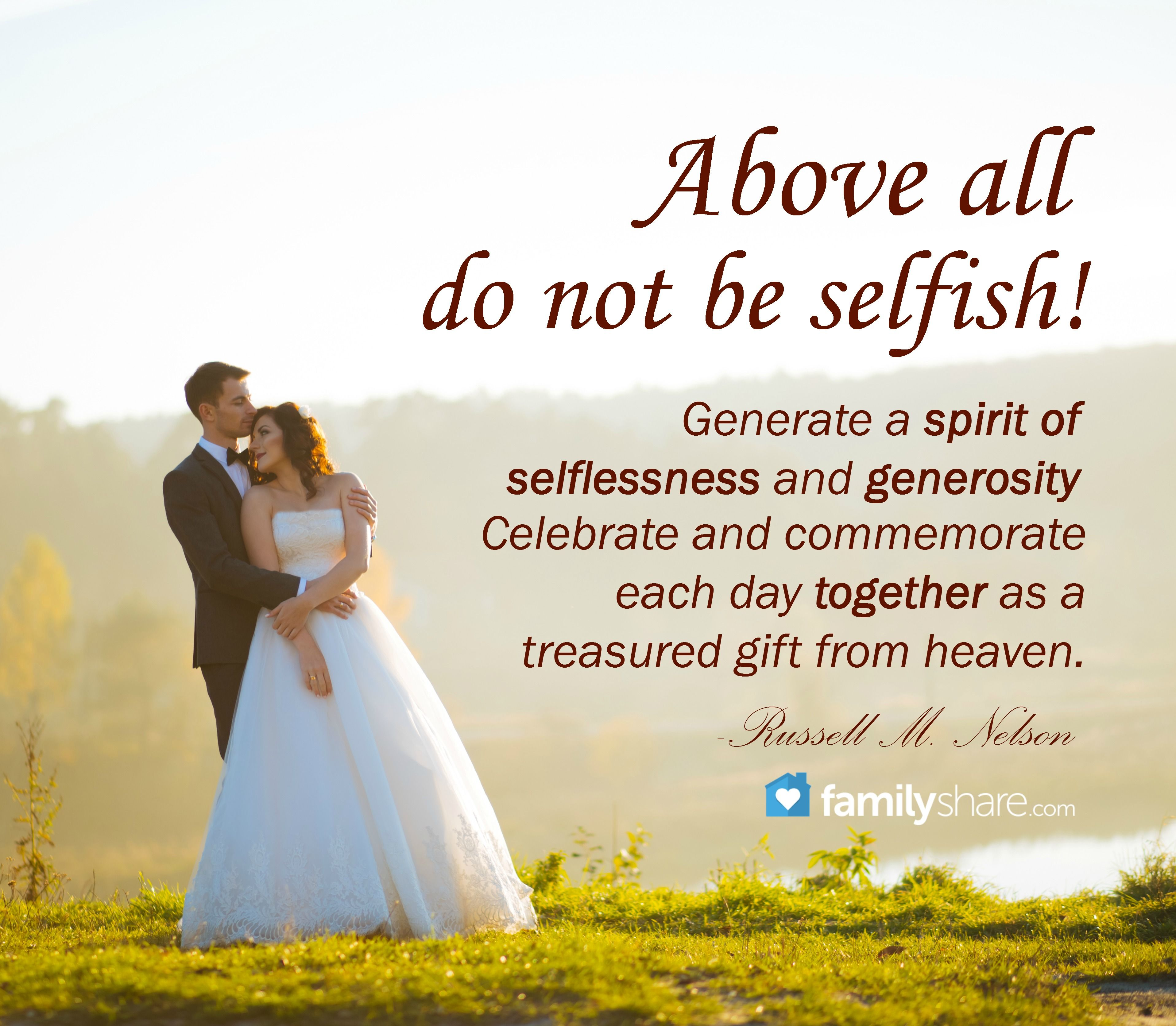 """Real Weddings Study: """"Above All Do Not Be Selfish! Generate A Spirit Of"""