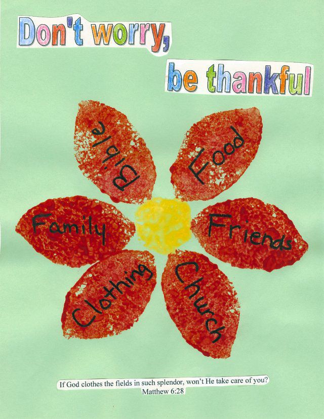 Bible Craft Ideas For Kids Part - 43: Donu0027t Worry, Be Thankful - Craft Idea