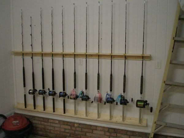 Garage rod holders the hull truth boating and fishing for Homemade fishing rod holders