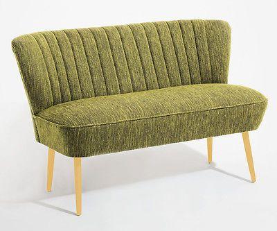 Cocktailsofa 50er Jahre Retrosofa Beine hell o dunkel - grün - vintage wohnzimmer grun