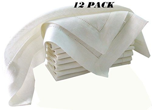 Pack Of 12 100 Pure White Linen Dinner Napkin 20x20 White Color By Linen Clubs Hemstitched Hand Mad Linen Dinner Napkins Cloth Napkins Bulk Dinner Napkins