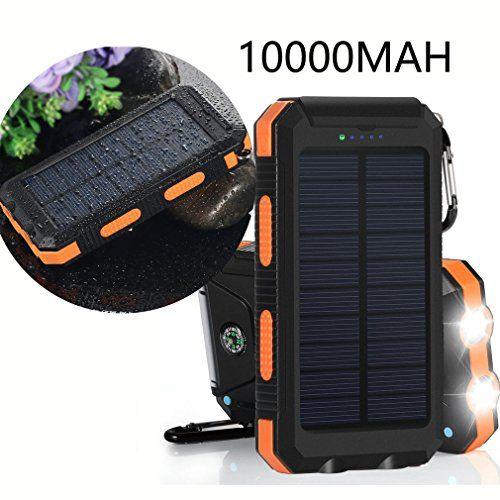 Solar Charger Vivostar 10000mah Solar Power Bank External Backup Battery Pack Dual Usb Solar Panel Charg Solar Panel Charger Portable Solar Power Solar Charger