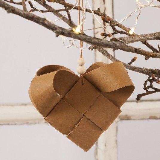 Punottu sydänkoriste #julestjernerpapir