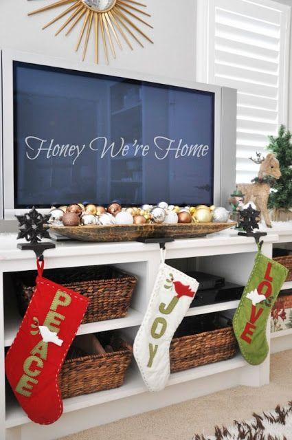 Una bonita manera de decorar la sala de estar navidad for Tutoriales de decoracion