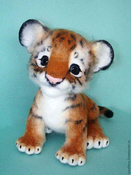 "*NEEDLE FELTED ~ Animal toys, handmade.  Fair Masters - handmade.  Buy Tiger ""Tod"".  Handmade.  Red, Aurora, wire #needlefelting *NEEDLE FELTED ~ Animal toys, handmade.  Fair Masters - handmade.  Buy Tiger Tod.  Handmade.  Red, Aurora, wire"
