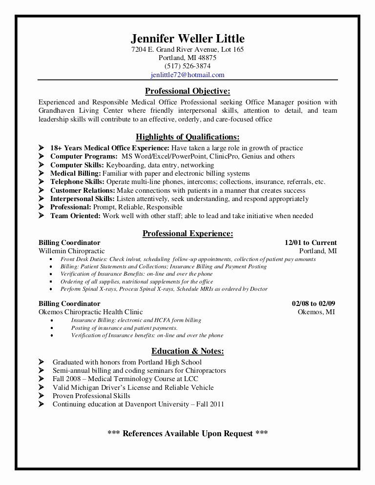 Medical Billing Resume Examples Best Of Medical Billing Supervisor Resume Sample In 2020 Medical Coder Resume Medical Assistant Resume Resume Examples