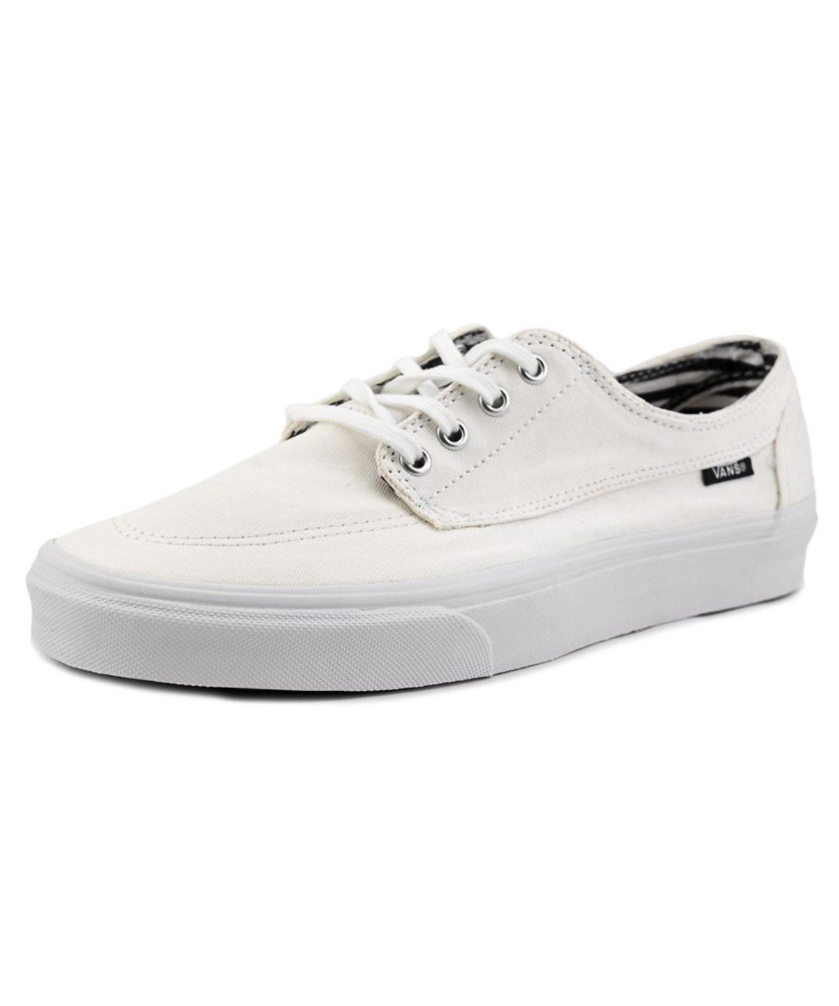 b0e0900e9e911f VANS VANS BRIGATA MEN ROUND TOE CANVAS WHITE SKATE SHOE .  vans  shoes   sneakers